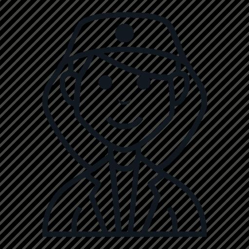 avatar, character, girl, job, people, smile, woman icon