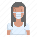avatar, mask, people, profile, user, woman, young