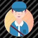 avatar, person, postman, profession, profile icon