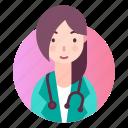 avatar, doctor, people, profession, profile icon