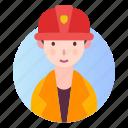 avatar, builder, people, profession, profile icon