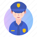 avatar, people, police, policeman, profession