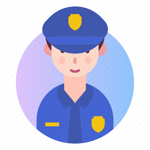 avatar, people, police, policeman, profession icon