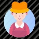 avatar, farmer, male, man, people, profession icon