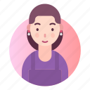 avatar, housewife, maid, profile icon