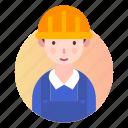 avatar, engineer, people, profile icon