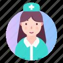 avatar, nurse, profession, profile icon
