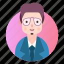 avatar, businessman, manager, profession, profile icon