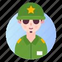 avatar, military, people, profile icon