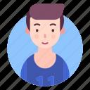avatar, man, people, profile, sports person icon