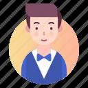 avatar, male, people, profile, waiter icon