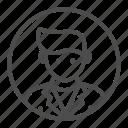 avatar, college, profession, scholar, student icon