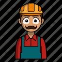 avatar, builder, job, profession, profile