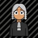 avatar, job, judge, judgement, profession icon