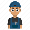 automotive, avatar, job, mechanic, profession icon