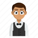 avatar, job, profession, restaurant, waiter icon