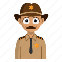 avatar, job, person, profession, sheriff icon