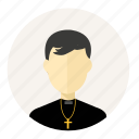 account, avatar, christian, man, pastor, person, profile icon