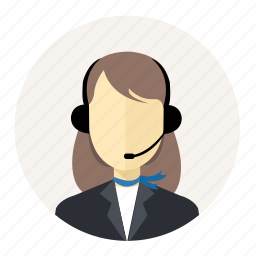 account, avatar, call center, people, person, profile, woman icon