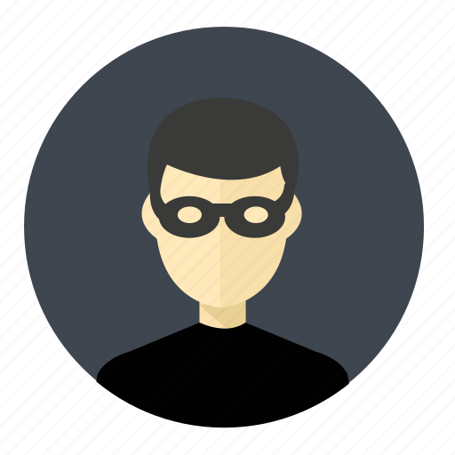 account, avatar, bandit, man, person, profile, spy icon