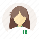 avatar, female, japan, sport man, student, user, woman icon