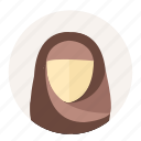arabian, avatar, female, islam, muslim, user, woman icon