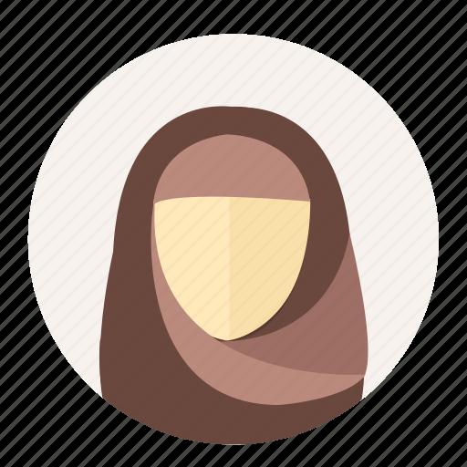 arabian, avatar, female, islam, muslim, user, woman icon
