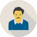 avatar, businessman, man, moustache, old, person, shades icon