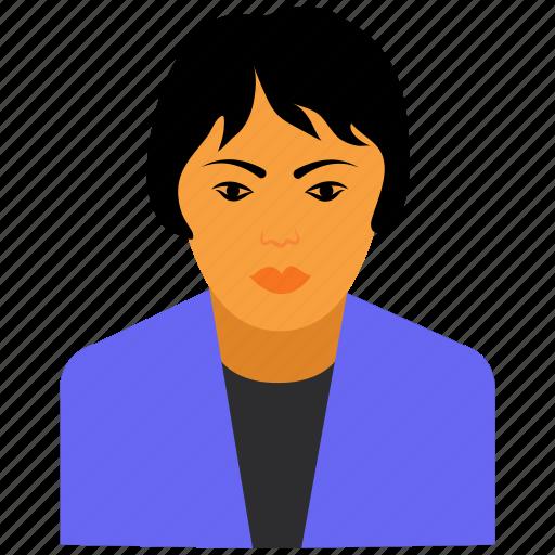 avatar, female, hair, woman icon