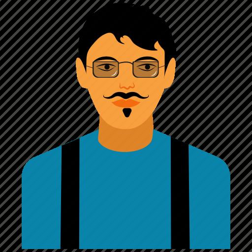 boy, business, cartoon, character, man, profile, user icon