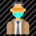 avatar, man, mask, mustaches, old, professor, profile