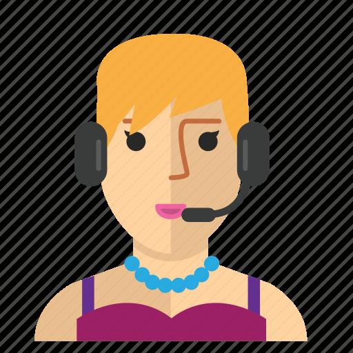 avatar, customer, service, staff, woman, work icon