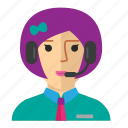 avatar, customer, service, staff, woman, work icon