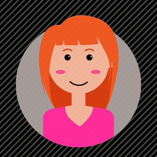 avatar, female, people, profile, woman icon