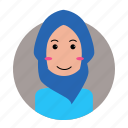 avatar, female, moslem, people, profile, woman icon