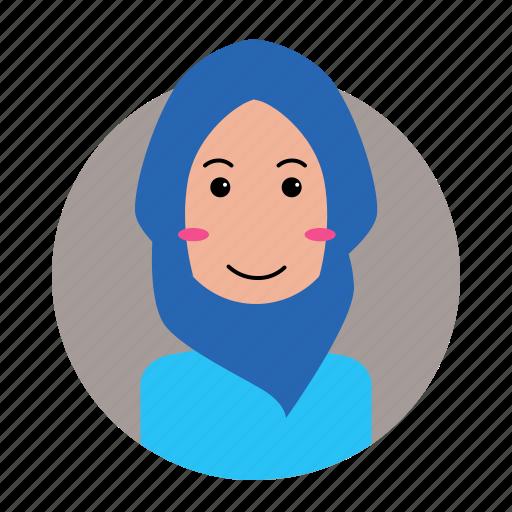 avatar, female, moslem, people, profile, woman icon