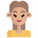 girl, avatar, people, person, profile, head, face