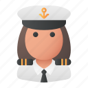 avatar, captain, professional, user, woman