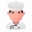 chef, cook, cooker, man, professional, social, user icon
