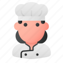 chef, cook, cooker, professional, social, user, woman icon