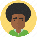 afro, avatar, avatars, man, profile, user icon