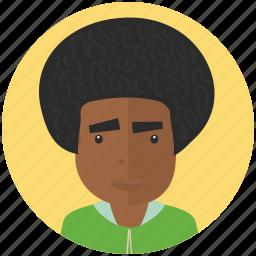 afro, avatar, avatars, man, profile, user icon