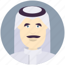 arabian, avatar, avatars, man, profile, user icon
