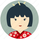 asian, avatar, avatars, profile, user, woman icon