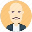 avatar, avatars, bald, man, profile, user icon