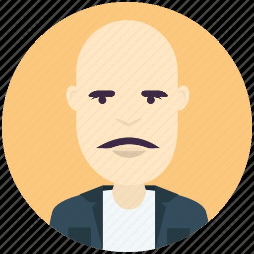 avatar, avatars, bald, man, profile, user icon