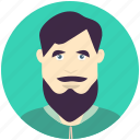 avatar, avatars, bearded, man, profile, user icon