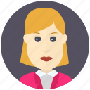 avatar, avatars, business, profile, user, woman icon