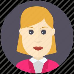 avatar, avatars, business, profile, user, woman icon