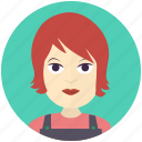 avatar, avatars, farmer, profile, user, woman icon